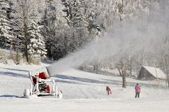 Snowmaking cannon Royalty Free Stock Images