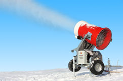 Snowmaking is the production Stock Photography