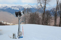 Snowmaking Stock Image