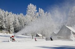 Snowmaking Royalty Free Stock Photo