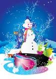 snowman stock illustrationer