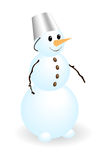 Snowman. Classic snow man isolated on a white. Vector illustration Stock Images