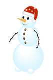 Snowman. Classic snow man isolated on a white. Vector illustration Royalty Free Stock Photos