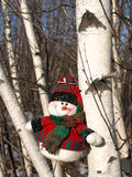Snowman. A snowman waiting for Christmas Stock Photo