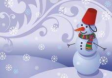 vector snowman card for Christmas stock illustration