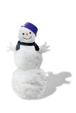 Snowman. Isolated on white background Stock Images