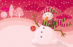 Snowman. Vector illustration with a snowman vector illustration