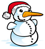 Snowman. On a white background - illustration Royalty Free Stock Photography