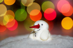 Snowman. Sugar snowman  with colorful background Stock Photography