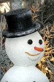 Snowman. Christmas, Tree, Snowman and Clown  in the Garden Royalty Free Stock Image