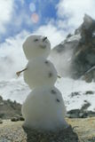 Snowman. Who we made in the high camp before the ascend mt. ukju Stock Photo