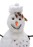 Snowman. On a white background Royalty Free Stock Image