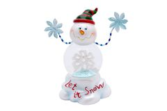Snowman. An isolated christmas snowman figurine Royalty Free Stock Images