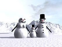 Snowman  14 Royalty Free Stock Image