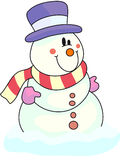 Snowman. A snowman for this winter season royalty free illustration