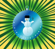 Snowman. Background with Christmas theme, jpg, vector Royalty Free Stock Photos