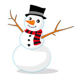 Snowman. Christmas illustration of cute snowman Royalty Free Stock Images