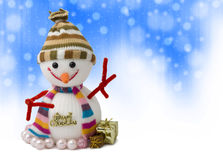 Snowman. Isolated in  white background Royalty Free Stock Photography