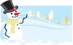 snowman vektor illustrationer