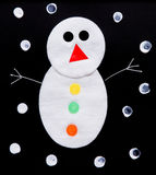 Snowman. Picture of a fake snowman Royalty Free Stock Image