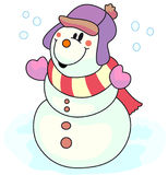 Snowman 2. A snowman with hat for this winter royalty free illustration