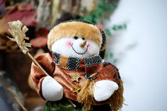 Snowman 2. A dressed up snowman because is too cold this year Stock Photo