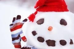 ο κ. snowman Στοκ Φωτογραφία