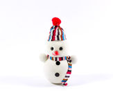 Snowman. A cute little snowman with white background stock image
