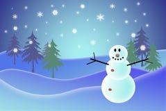 Snowman. Christmas ilustration of a snowman Royalty Free Stock Photos