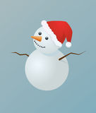 Snowman. Is waiting for Santa Royalty Free Stock Image