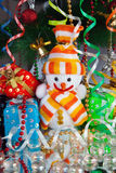 Snowman. A Funny christmas toys. Snowman Royalty Free Stock Photos