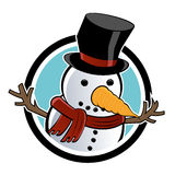 snowman Royaltyfri Fotografi