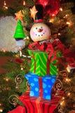 Snowman. A snowman like Christmas ornament on a Christmas tree Stock Photo