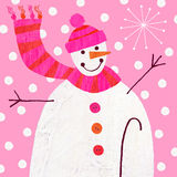Snowman royalty free illustration