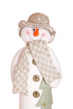 Snowman. Clothed snowman on white backround Stock Photo