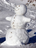 Snowman. This is a snowman Christmas scene Royalty Free Stock Photography