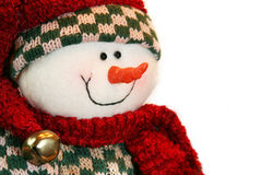 Snowman. Happy snowman isolated on white Royalty Free Stock Images