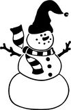 Snowman. Christmas - Holidays - Vector Image Stock Photography