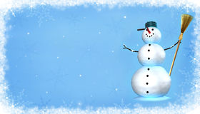 snowman vektor illustrationer