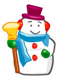 Snowman. Caricature of snowman for festive season royalty free illustration