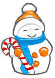 Snowman. Caricature of snowman for festive season stock illustration