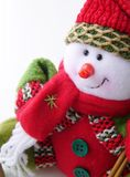 Snowman. Detail of little snowman. Christmas decoration. Winter small figure Stock Image