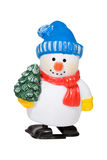 Snowman. Colorful Christmas snowman decoration against white background Stock Photos