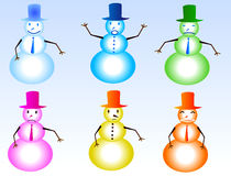 Snowman. A images  of  all Snowman Stock Image
