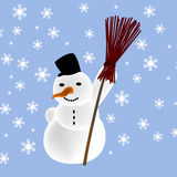 Snowman. Draw of snowman Royalty Free Stock Photos
