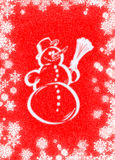 Snowman. Postcard Stock Illustration