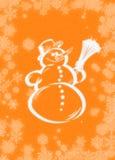 Snowman. Postcard Royalty Free Illustration