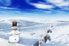 Snowman in 3D Stock Photography