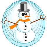 snowman royaltyfri illustrationer