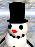 Snowman 6. This is a Christmas scene Royalty Free Stock Photos